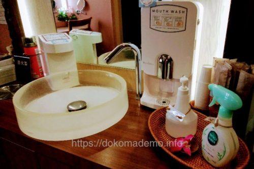 トイレ手洗い場付近